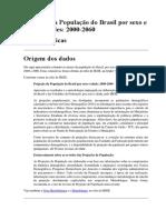 IBGE. Projeção da População do Brasil por sexo e idade –2000-2060. Revisão 2013