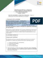 Guia de actividades y Rúbrica de evaluación - Unidad 3 - Tarea 4 - Determinar del tiempo estándar de un proceso