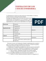 ADMINISTRACION DE LOS SERVICIOS DE ENFERMERIA