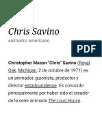 Chris Savino - Wikipedia, La Enciclopedia Libre
