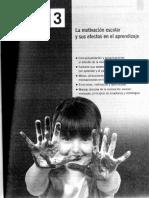 Capítulo 3. La motivación escolar y sus efectos en el aprendizaje
