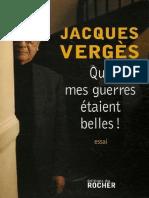 EBOOK Jacques Verges - Que mes guerres etaient belles