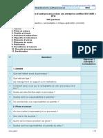 Questionnaire Audit Processus