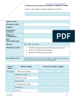 Exemple Plan d'Audit Processus