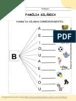 Fichas Família Silábica