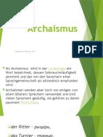 архаизмы немецкого языка