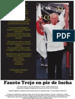 """Cartel del Homenaje al Dr. Fausto Trejo Fuentes, con foto de Fernando Fernández Jaramillo """"Ray"""""""