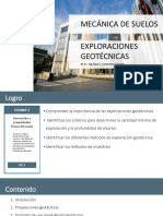 3 Exploraciones geotécnicas