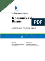 Modul 09 - Laporan dan Proposal Bisnis