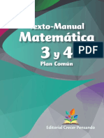 Texto-manual Matemática 3 y 4 Plan Común