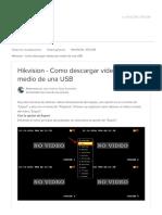 Hikvision - Como descargar vídeos por medio de una USB