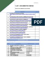 CHECK LIST - DOCUMENTOS CBM BA PARA PREENCHIMENTO (ATUALIDADA 03.03-21)
