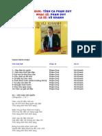 VuK Tinh ca Pham Duy (lyrics)