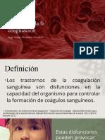 Trastornos de la coagulación