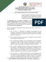 Resolucao n.o 015_2020 - Altera a Resolucao n.o 005_2020 que dispoe sobre o Regulamento de TCC-1