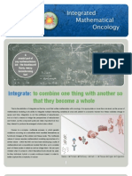 Integrated Mathematical Oncology Newsletter 1