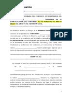 Modelo de ASAMBLEA EXTRAORDINARIA CONDOMINIO