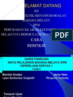 Teknik Menjawab Bahasa Melayu Spm-2009