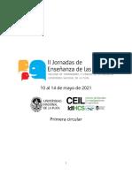 II Jornada de Enseñanza de las Lenguas - Primera circular