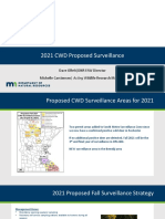 Proposed CWD Surveillance Areas for 2021