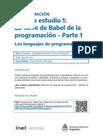 Programacion_01-Lenguajes de programación Parte 1