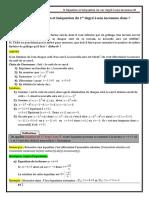 Chap8 Equation et inéquation du 1er dégre dans IR