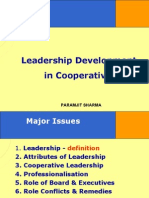 Leadership  in Cooperatives