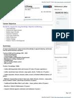 Raymond Chong VisualCV Resume ( 2011-01-10 )