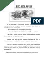 13. Fable d Esope Le Lion Et La Souris
