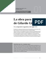 Espert - La Obra Para Piano de Gilardo Gilardi