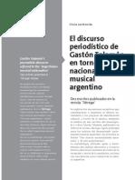 Mansilla - El Discurso Periodístico de Gastón Talamón en Torno Al Nacionalismo Musical Argentino