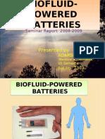 BIOFLUID POWERED BATTERIES