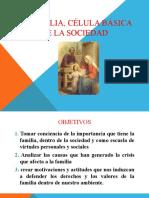 4)LA FAMILIA, CÉLULA BÁSICA DE LA SOCIEDAD
