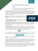 1. Fundamentos de Estadística descriptiva ; 1.4.  Medidas descriptivas