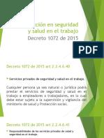 Introducción en seguridad y salud en el trabajo decreto 1072 de 2015