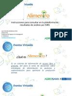 Consulta de información nutricional de materiales forrajeros
