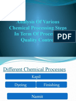 Analyse of Various Chemical Processing Steps in Term