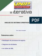 Análise de Sistemas do Objeto Slides de Aula – Unidade III