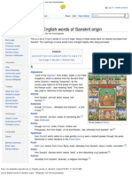 List of English words of Sanskrit origin - Wikipedia, the free encyclopedia