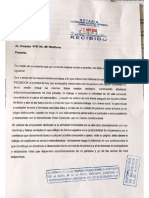 Segunda carta notarial de Fredy Pinto