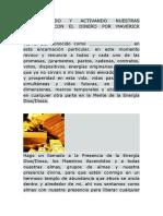 ACTIVANDO NUESTRAS ACTITUDES CON EL DINERO POR MAVERICK TORRES