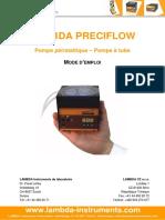 LAMBDA-PRECIFLOW-pompe-peristaltique-mode-d'emploi