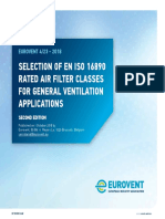 Eurovent REC 4-23 - Selection of EN ISO 16890 rated air filter classes - 2018 - English - Web