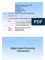 Introduction to Digital Signal Processing