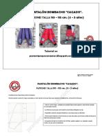 Pantalon Bombacho Cagado Talla 110.115 Paramipequeconamor