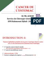 Cancer de l'Estomac DR Achab