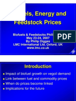Biofuels, feedstock, maize prices 2007