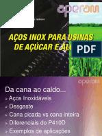 AÇOS INOX PARA USINAS DE AÇÚCAR E ÁLCOOL aperam