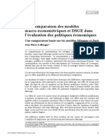 Comparaison des modèles macroéconometriques et le modèle DSGE