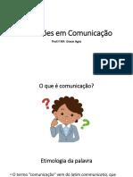 Aula 01 O que é comunicação